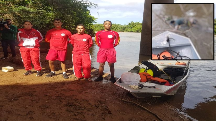Bombeiros localizam corpo de homem boiando no Rio Cuiabá