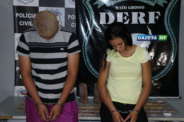 DERF prende casal suspeito por tráfico de droga em Rondonópolis