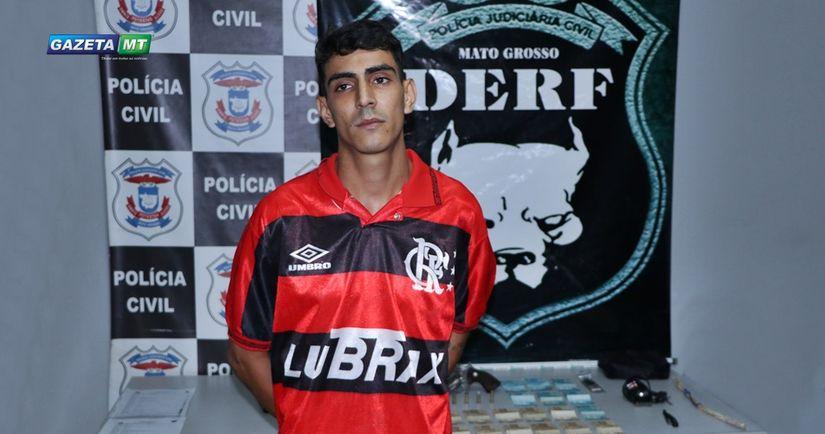 Derf  prende participante de facção criminosa, autor de vários roubos em Rondonópolis