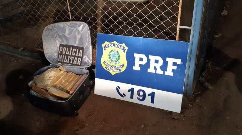 Motorista é preso pela PRF com 14 kg de cocaína
