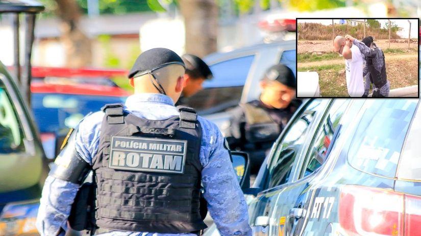 Rotam prende homem que se masturbava em carro e mostrava pênis para mulheres nas ruas da Capital