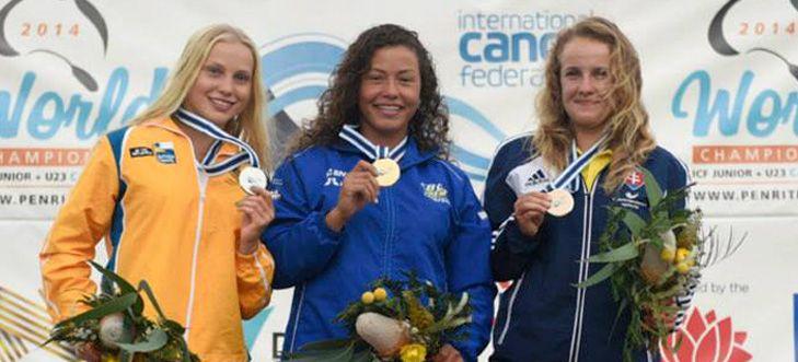 Ana Sátila é campeã mundial de canoagem slalom sub 23