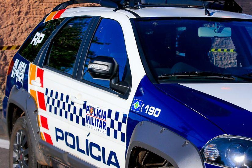 Viatura da Polícia Militar   Imagem: Daffiny Delgado / GazetaMT