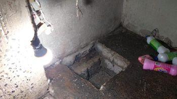 Túnel descoberto na Penitenciária de Ferrugem (Foto: divulgação Polícia Penal)