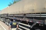 Policial Rodoviária Federal apreende carreta de madeira com documentação adulterada
