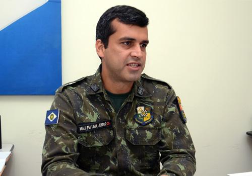 Major Lima Júnior, comandante da 2ª Companhia de Polícia Militar Ambiental de Rondonópolis. Foto: Luan Dourado/GazetaMT