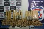 Derf de Rondonópolis faz maior apreensão de drogas em 2016