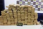 PRF apreende mais de 140 kg de maconha na BR 163