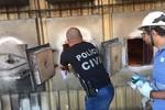 Polícia Civil realiza incineração de 40 kg de cocaína