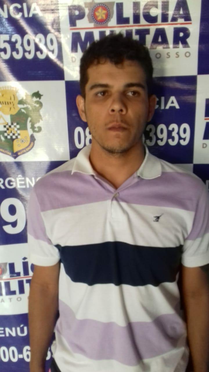 Suspeito de roubo em Campo Verde. Foto: GazetaMT