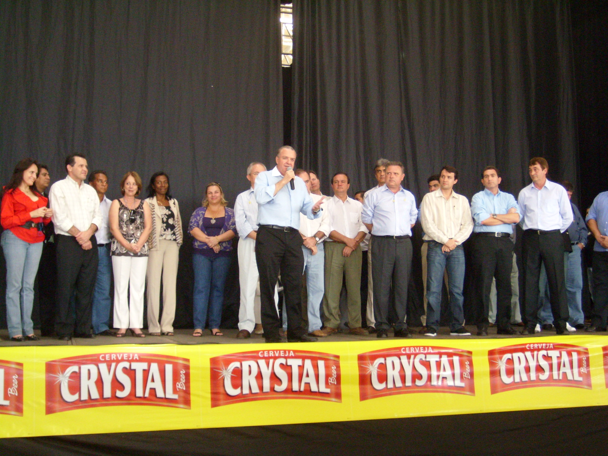 Foto da inauguração da fábrica em Rondonópolis