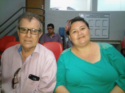 Secretário Feltrin e a analista instrumental da Secretaria de Receita. Foto: GazetaMT
