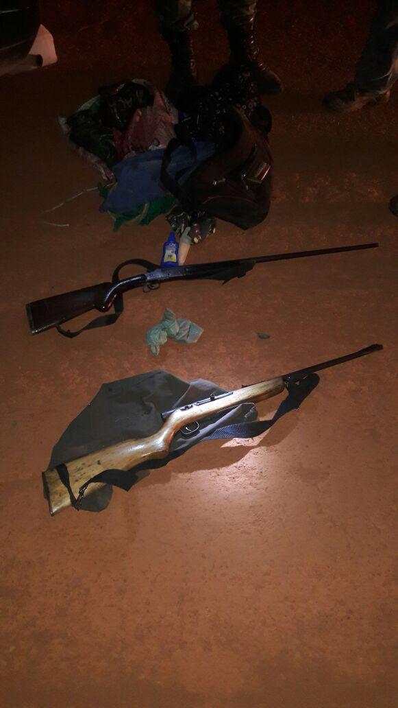 Armas apreendidas. Foto: Polícia Ambiental