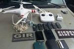 Mais um Drone carregado de celulares tenta pousar na PCE