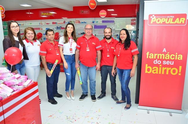 Equipe da Farmácia Ultra Popular. Foto: Sirlei Alves/ GazetaMT