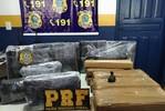 Duas pessoas são detidas pela PRF com 28 kg de maconha