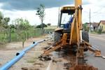 Canos começam a ser instalados para ligar o novo Sistema de Abastecimento de água