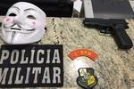 PM detém suspeitos que usaram simulacro e máscara durante roubo