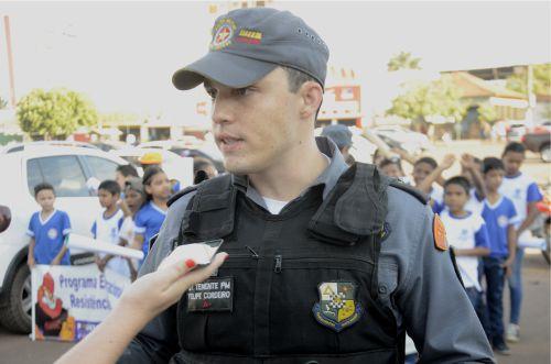 Tenente PM Felipe Cordeiro - Coordenador Proerd. Foto: Marco Aurélio/GazetaMT