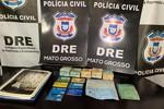 DRE apreende cartões e mais de R$ 26 mil durante investigação de tráfico