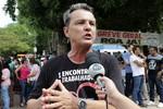 Servidores paralisam atividades nesta terça e realizaram manifestação em Cuiabá