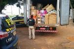 Caminhão carregado de mercadorias chinesas é apreendido em Primavera do Leste
