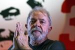 Lula presta depoimento no processo do sítio de Atibaia