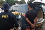 Foragido da Justiça é preso pela PRF e flagrado com mercadoria sem nota fiscal