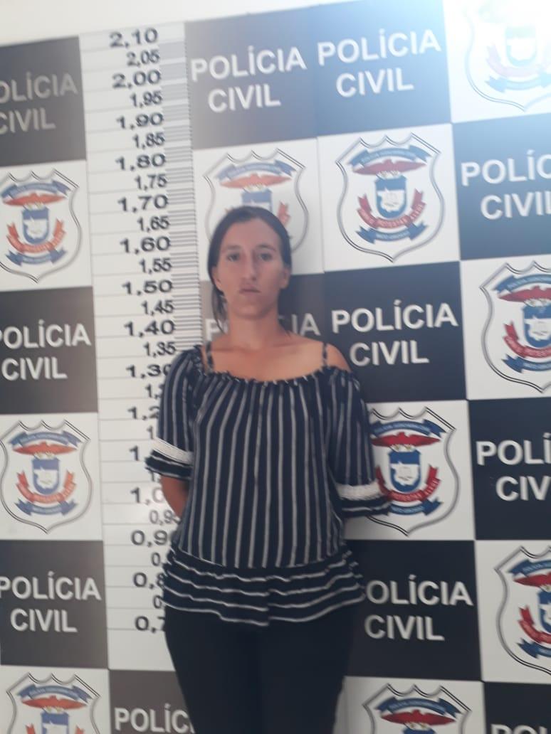 de Keli Martins Moreira, 23, suspeita de matar o companheiro. (Foto: divulgação PJC/MT)