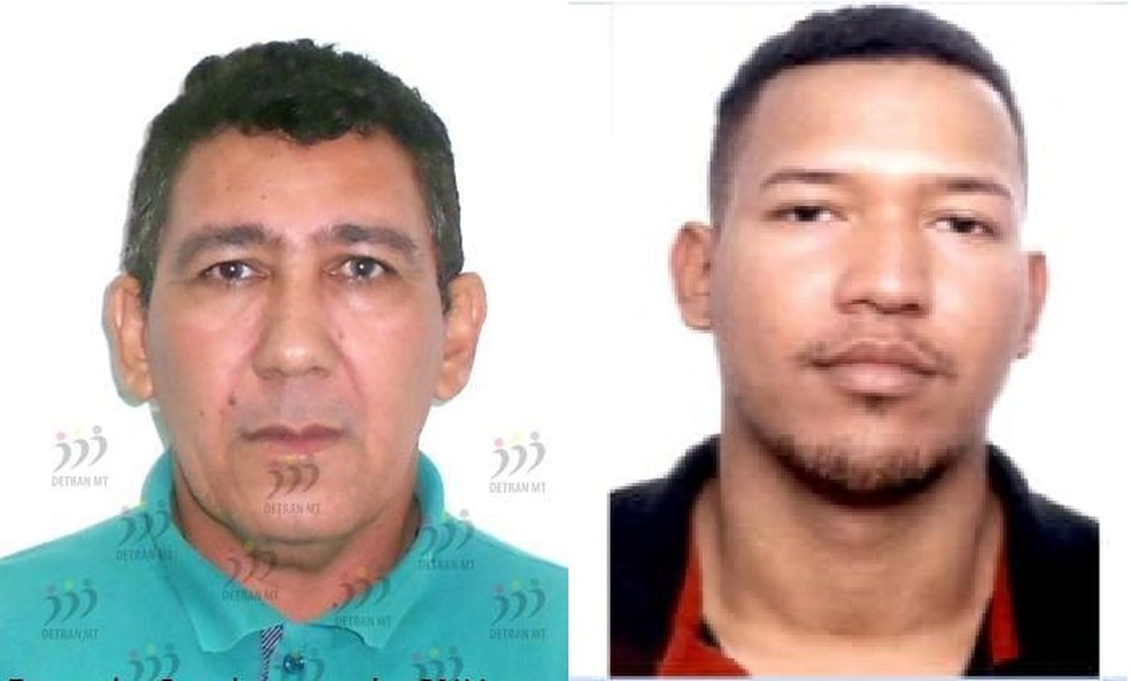 Fotos dos suspeitos que são procurados pela polícia. (Foto: divulgação PJC/MT)