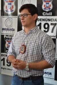 Delegado da Derf em Rondonópolis. Foto: Divulgação