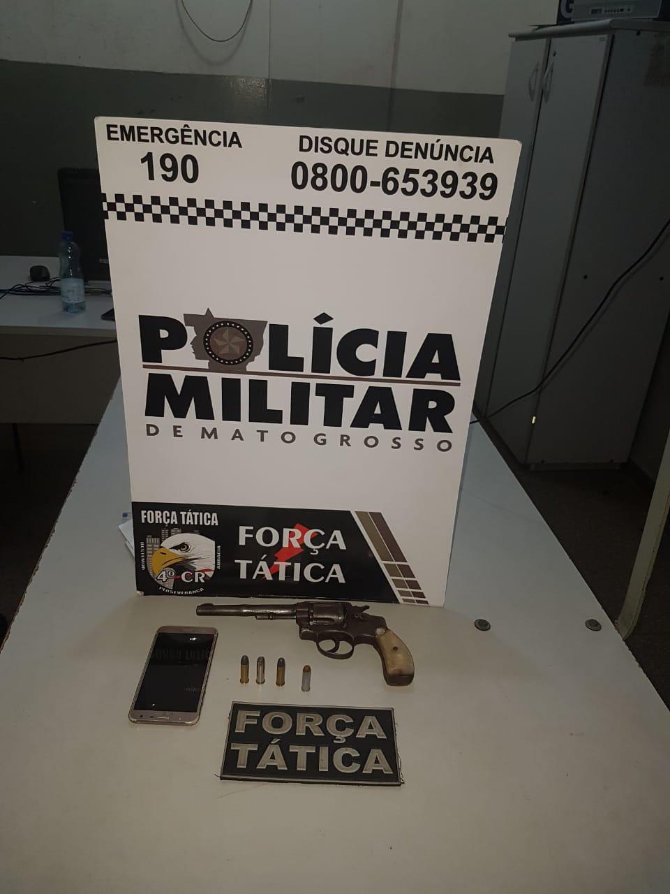 Arma apreendida pela Força Tática de Rondonópolis. Foto: PM