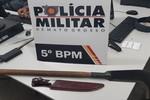 Proprietário e clientes são ameaçados com foice em estabelecimento comercial de Rondonópolis
