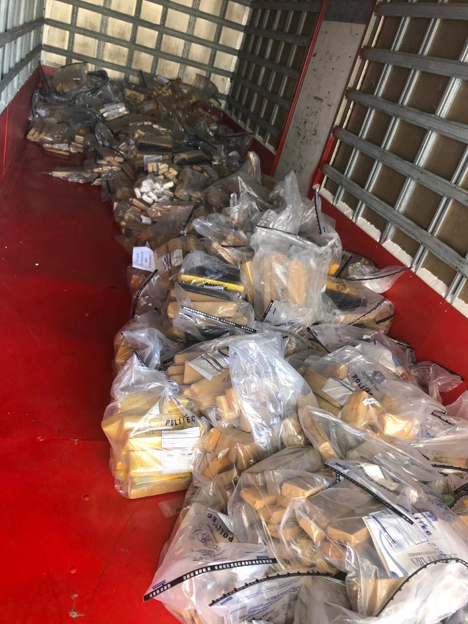 As duas toneladas e meia de entorpecente foram apreendidas durante o segundo semestre de 2018. (Foto: divulgação PJC/MT)