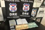 Foragido da Justiça é preso com documentos falsos, dinheiro e anotações do tráfico