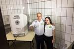 Pedro Taques registra o voto em Cuiabá
