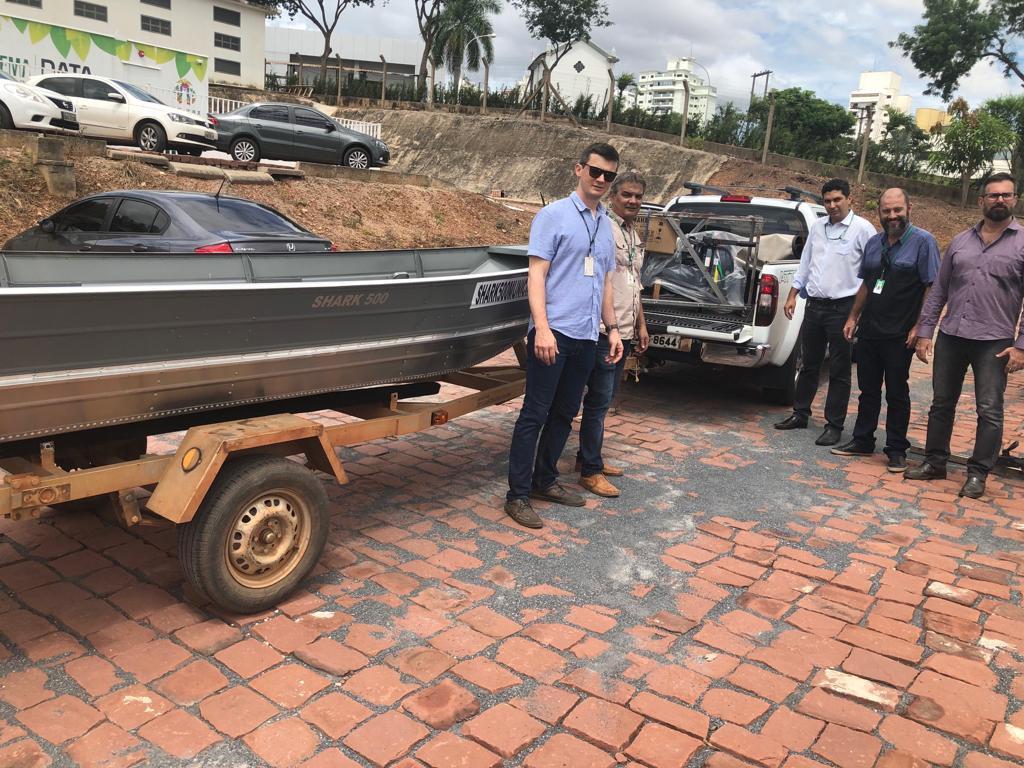 Entrega de barcos e motores para os municípios na sede da Sema, em Cuiabá. (Foto: Sema/MT)