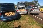 Suspeitos são presos com 350 kg de maconha na BR-163
