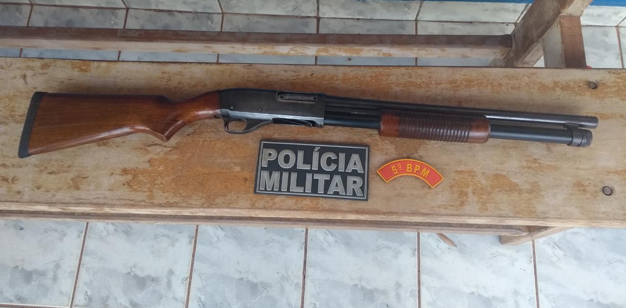 Arma apreendida pela Polícia Militar de Pedra Preta. Foto: PM