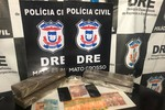 Suspeitos são presos em casa de distribuição de drogas para traficantes de MT